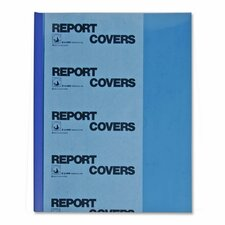 Report Covers, w/ Binding Bars, 50/BX, Blue Vinyl