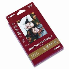 Photo Paper Plus Glossy II, 4 x 6, 50 Sheets per Pack
