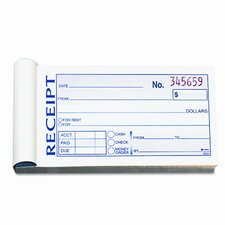 Money/Rent Receipt Book, 2-Part Carbonless, 2-3/4 x 5-3/8, 50 Sets