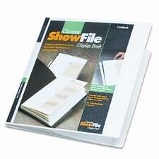 ShowFile Display Book with Custom Cover Pocket , 12 Letter-Size Sleeves, White