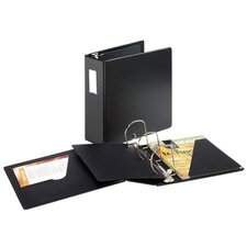 "D Ring Binder W/Label Holder, 4"" Cap, 11""x8-1/2"", Black"