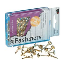 Brass Paper Fasteners 1 1/2 100/box