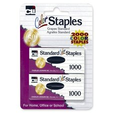 Standard Staples, Chisel Point, 1000per Pack, Colored