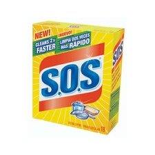 S.O.S Steel Wool Soap Pad (Set of 18)