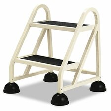 Stop-Step Two-Step Aluminum Ladder, 21-1/4w x 20-1/4d x 22-7/8h, Beige