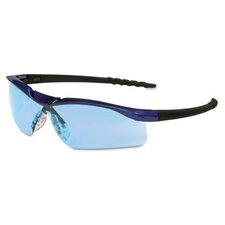 Dallas Wraparound Safety Glasses, Light Blue Lens