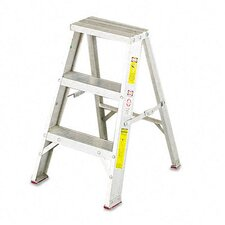 Louisville #429 Aluminum Two-Step Stool with Side Locks