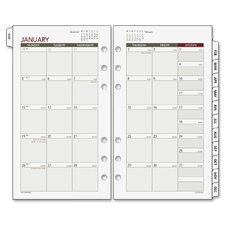 Express Nature Tabbed Monthly Calendar Refill