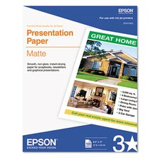 Matte Presentation Paper, 27 Lbs., 8-1/2 X 11, 100 Sheets/Pack