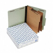Pressboard Classification Folders, Letter, Eight-Section, 10/Box