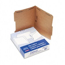 Kraft Two-Fastener Classification Folders with 2/5 Right Tabs, Letter, 50/Box