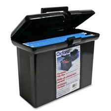 "Portable File Box, 14""Wx7-1/4""Dx11""H, Black"