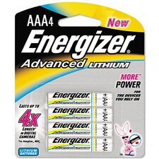 Advanced Lithium Batteries, Aaa, 4/Pack