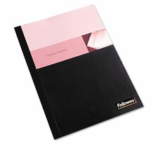 Thermal Binding System Covers, 9 3/4 x 11 1/8, Clear/Black, 10/Pack
