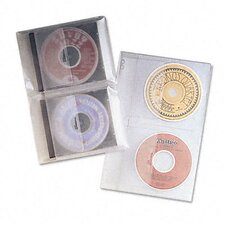 Cd/Dvd Protector Sheets for Three-Ring Binder, 10/Pack