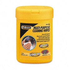 Multipurpose Cleaning Wet Wipes, Cloth, 65/Tub
