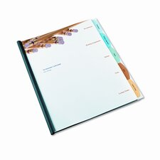 Polypropylene View-Tab Report Cover, Binding Bar, Letter, Holds 40 Pages