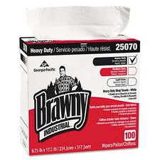 Brawny Industrial Heavy Duty Shop Towels, 100/Box, 5/Carton