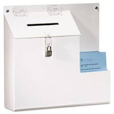 Plastic Suggestion Box with Locking Top