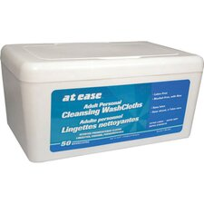 At Ease Disposable Washcloths in White