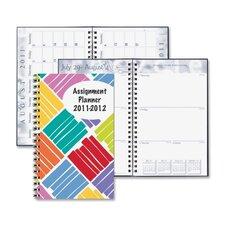 "Box Design Weekly Assignment Planner, 13 Mos, 5""x8"", Boxes/Multi, 2013"
