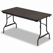 Economy Wood Laminate Folding Table in Walnut