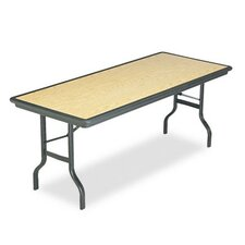 Indestructable Resin Rectangular Folding Table, 72W X 30D X 29H
