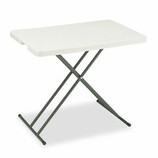 Indestruc-Tables Too Personal Folding Table, 30w x 20d, Platinum