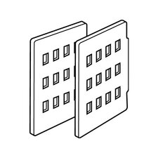 SnapEase Dividers for Stackable Shelf File (Pack of 2) in Platinum