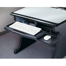 Keyboard Platform with Retractable Mouse Pad in Black