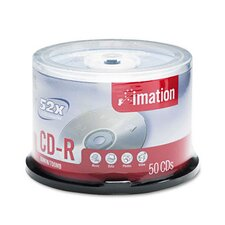 CD-R Disc, 700Mb/80Min, 52X, Spindle, 50/Pack