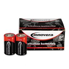 Alkaline Batteries, D, 12/pack