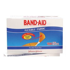 "X 3"" Band-Aid® Brand Flexible Fabric Woven Bandage Strips (100 Per Box)"