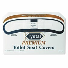 Boardwalk Premium Half-Fold Toilet Seat Covers, 250 Covers/Box, 10 Boxes/Carton