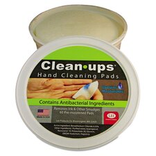 Clean-Ups Hand Cleaning Pads (Pack of 60)