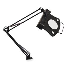 "Magnifier Lamp, 30"" Reach, On/Off Rocker Switch, Black"