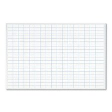 Planning Board, 1 x 2 Grid, Porcelain-on-Steel, 36 x 24, Blue/White