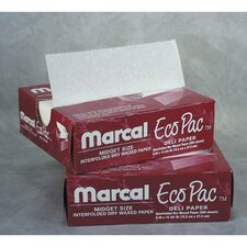 "10"" Eco-Pac Natural Interfolded Dry Waxed Paper Sheets in White"