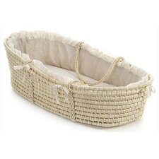 Moses Basket with Gingham Bedding