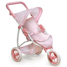 "Three Wheel Doll Jogging Stroller for 22"" Dolls"