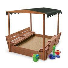 Convertible Cedar 4' Rectangular Sandbox with Cover