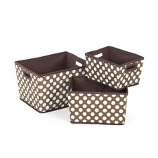 Nesting Trapezoid Three Basket Set