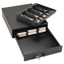 Steelmaster Compact Steel Cash Drawer with Spring-Loaded Bill Weights