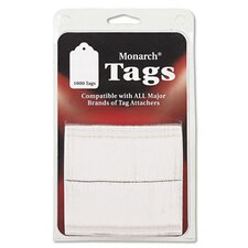 Refill Tags For SG Tag Attacher Kit, 1-1/2 x 1, White, 1000 per Pack