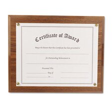 Award-A-Plaque Document Holder, Acrylic/Plastic, 10-1/2 X 13