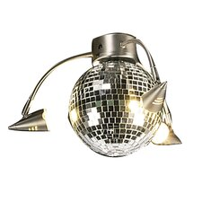 Three Light Disco Ball Ceiling Fan Light Kit