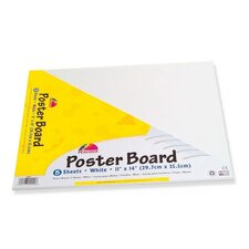 "Poster Board ,Recyclable, 11""x14"",5 Sh/PK, White"