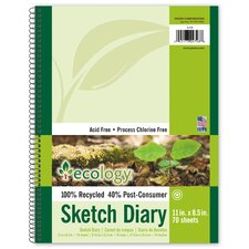 70 Sheet Ecology Sketch Diary