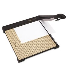 SharpCut 15-Sheet Paper Trimmer, Wood Base, 14 1/4 x 12