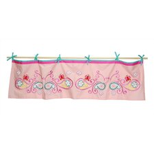 Butterfly Paisley Tab Top Tailored Curtain Valance